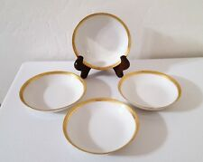 "Set (4) Gerard Dufraisseix Abbott (GDA)""LIMOGES FRANCE"" Desert Bowls-Gold Design"