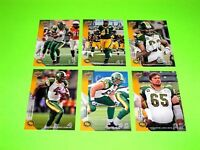 6 EDMONTON ESKIMOS UPPER DECK CFL FOOTBALL CARDS 23 26 30 31 32 116 #-2