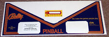 PARAGON Pinball Machine Apron Decal Set