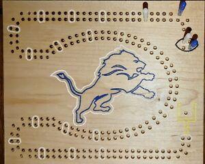 NFL Theme Detroit Lions cribbage board