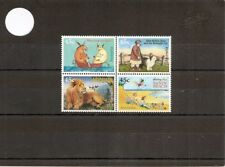 "Australie 1996 SG1630-3 4 V NHM Children's Books - ""Animalia""/Greetings from Sandy"