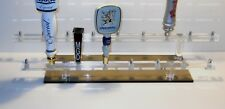 CLEAR ACRYLIC 17 BEER TAP HANDLE DISPLAY 2  TIERS OF DISPLAY ONE OF A KIND