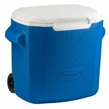New listing Coleman Wheeled Cooler (28 quart Blue/White)