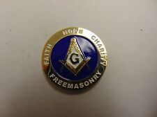 CHALLENGE COIN FREEMASONRY FAITH HOPE CHARITY BROTHERLY LOVE JUSTICE RELIEF TRUT