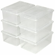 8x 6xCajas de almacenaje de zapatos calzado cajas plástico transparente apilable