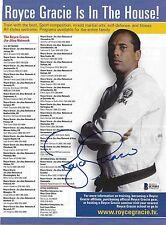 Royce Gracie Signed 8x11 Magazine Ad Photo BAS Beckett COA UFC Pride Jiu-Jitsu 1
