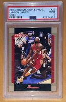 POP 1 of 13💎2004-2005 LeBron James TOPPS BOWMAN GOLD #23 PSA 9 BGS prizm chrome