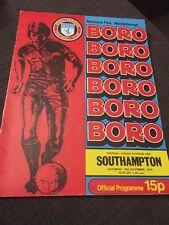Middlesbrough V Southampton 1978 Soccer/football Programme