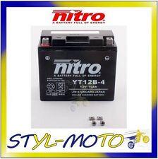 YT12B-4 = YT12B-BS BATTERIA BATTERY NITRO AGM GEL YAMAHA 600 FZ 6S FAZER 2004