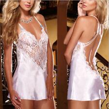 Women /sissy Lingerie Lace Babydoll G-string Thong Underwear Nightwear Dress Red 2xl