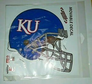 "University of Kansas KU Jayhawks: Football Helmet Reusable Decal Sticker 7x7"" 3M"