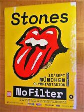 NEU! (UNGEFALTET) 2017 ROLLING STONES München Tour Poster No Filter