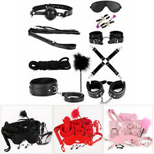 Bondage Cuffs BDSM Adult Toy for Couples Sex-toys Set 10 in 1