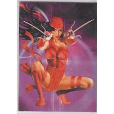 Women of Marvel WOM Embossed Single Trading Card Elektra T3