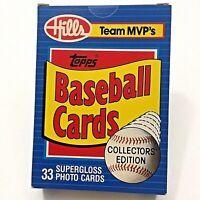 1989 Topps Hills Team MVP's-Glossy 1-33 Baseball Card Set-Free Shipping