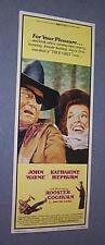 ORIGINAL 1975 John Wayne ROOSTER COGBURN insert 14x36
