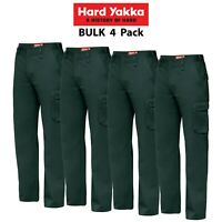 Mens Hard Yakka Cargo Pants 4 PK Gen Y Cotton Drill Work Tough Heavy Duty Y02500