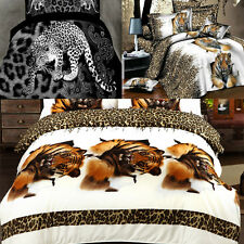 3D Personalized Bedding Sets Leopard  Printed 4Pcs Bedclothes Set Bed Polyester