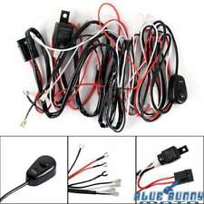 Motorbike Driving Fog Light Wiring Loom Harness Kit Work Light Bar Cable 12V 40A