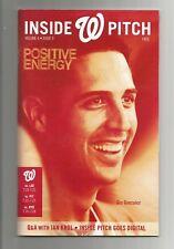 GIO GONZALEZ Washington Nationals Inside Pitch Volume 6 Issue 9 2013  W/CARDS