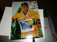 AUTOGRAPH ON 12 X 8 PHOTO LANCE ARMSTRONG CYCLING TOUR DE FRANCE WITH C.O.A.