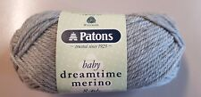 Patons Baby Dreamtime Merino 8 Ply #2959 Silver Pure Wool 50g