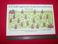 BUVARD BANQUE CREDIT AGRICOLE  1950-1960