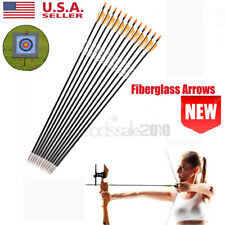 31in. Archery Fiberglass Arrows Sp700 Plastic Vanes F Bow Hunting Sport Outdoor