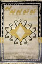 Rugstc 1.5x2 Pak Persian Ivory Area Rug, Hand-Knotted,Floral with Silk/Wool Pile