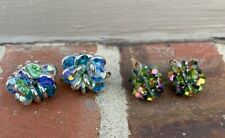 2 Purchased at Gus Mayer's Birmingham Vintage Costume Jewelry Earrings Lot of