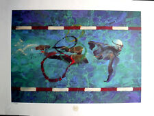 Swimming - Summer Olympics Robert Heindel Limited Edition Lithograph Signed & Nb