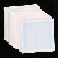 12er Set Baumwolle Stoff Taschentücher Damentaschentücher ( 30 x 30 cm )