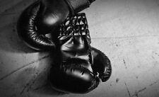 Grande Impresión en Marco - Vintage Guantes de Boxeo en el Suelo (Imagen