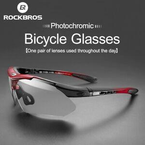 ROCKBROS Occhiali Da Sole Fotocromatici Ciclismo Bicicletta UV400 Sport da bici
