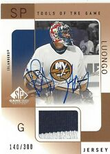 Roberto Luongo 2000-01 SP Game Used Tools of the Game Autograph Bronze /300 Auto