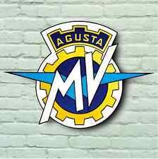MV AGUSTA USA LOGO 2FT RETRO GARAGE WALL SIGN MOTORCYCLE TT BADGE F3 F4 BRUTALE