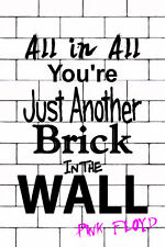 """Pink Floyd Poster Brick in The Wall Poster 16"""" x 24"""""""