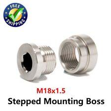 O2 Oxygen Sensor New Stepped Mounting Boss And Plugs Nut Bung M18x1.5 Universal
