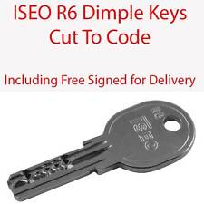 ISEO R6 Replacement Dimple Keys Cut to Code - Signed for Delivery Included