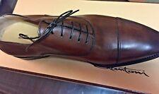 Santoni Jensen Cap Toe Oxford Dark Brown Size 8D, BRAND NEW, CHEAPEST, Original