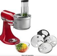New KitchenAid KSM2FPA Food Processor Attachment, Dicing Kit, Silver