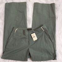 Banana Republic Womens 6 Green Nylon Blend Wide Leg Casual Pants NWT $78