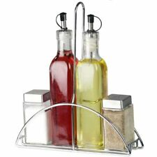 oil vinegar bottle glass dispenser salt pepper 4pc cruet set home basics