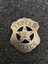Old Sioux 2 Indian Police Badge Obsolete Marked On Back MGM STUDIOS Prop?