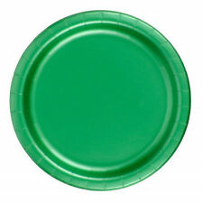 "24 Plates 6 7/8"" Paper Dessert Plates Wax Coated - Kelly Green"