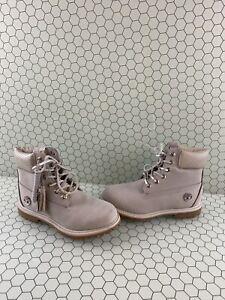 Timberland Classic 6 Inch Gray Nubuck Waterproof Lace Up Boots Women's Size 7