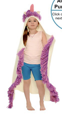 NEW Rows of Throws Kids Wearable Hooded Unicorn Blanket PINK HORN 35.00 Retail