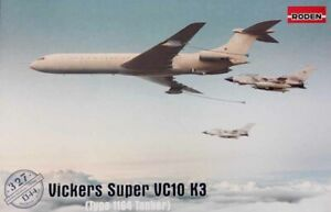 Roden 327 Vickers Super VC-10/VC10 K3 Type 1164 RAF Tanker 1:144 Aircraft Model