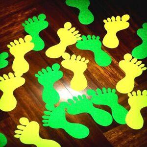 Adesivo antiscivolo a forma di piede per segnalare via di fuga camerette bambini