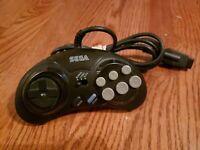 Original Sega Genesis 6 Button Controller Turbo MK-1470 OEM Clean Works Good